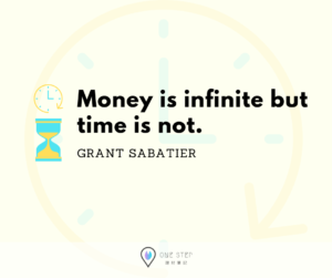 Money is infinite but time is not